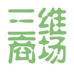 三维商场logo