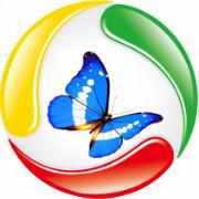 蓝蝶传媒工作室logo
